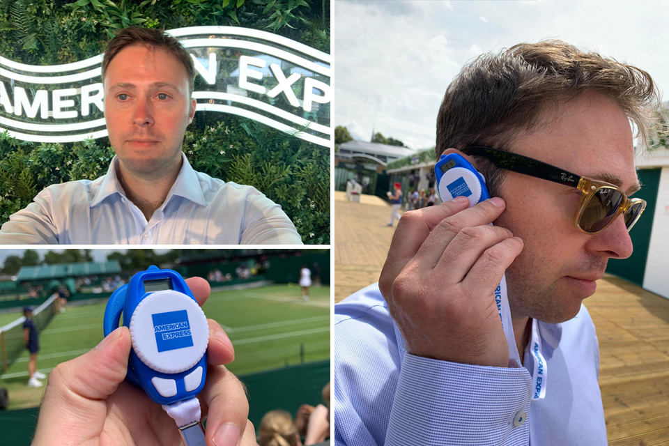 The Hoxton Mix guest Tweet on the AMEX Twitter account at Wimbledon 2019
